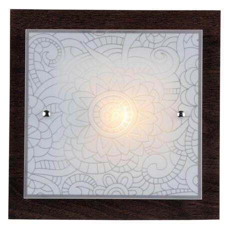 Потолочный светильник Freya Constanta FR4812-CL-01-BR (cl812-01-r), 1xE27x60W, коричневый, белый, металл, стекло
