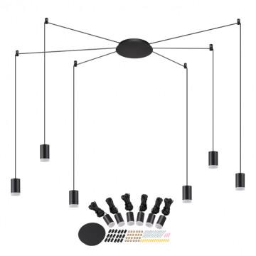 Светодиодная люстра-паук Novotech Web 357937, LED 48W 3000K 1944lm, черный, металл - миниатюра 1