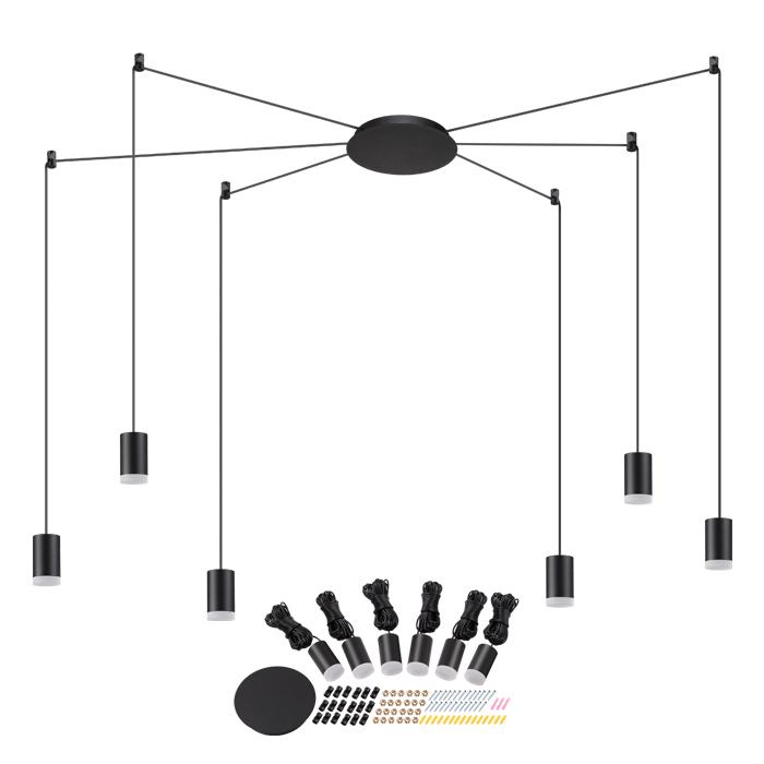 Светодиодная люстра-паук Novotech Web 357937, LED 48W 3000K 1944lm, черный, металл - фото 1