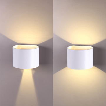 Настенный светодиодный светильник Novotech Kaimas 358002, IP54, LED 6W 3000K 420lm, белый, металл, стекло