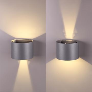 Настенный светодиодный светильник Novotech Kaimas 358003, IP54, LED 6W 3000K 420lm, серый, металл, стекло