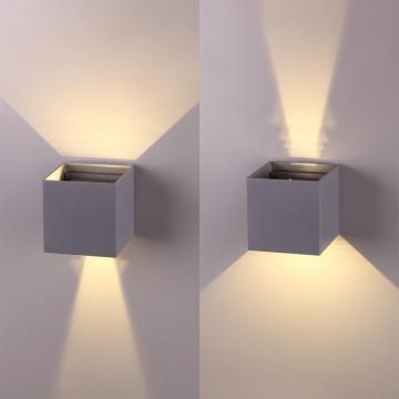 Настенный светодиодный светильник Novotech Kaimas 358004, IP54, LED 6W 3000K 420lm, серый, металл, стекло