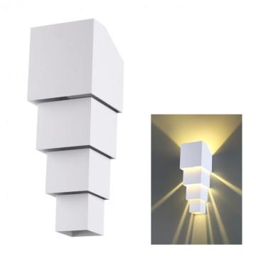 Настенный светодиодный светильник Novotech Kaimas 358005, IP54, LED 10W 3000K 700lm, белый, металл, стекло
