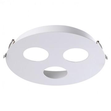 Основание встраиваемого светильника Novotech Konst Carino 370566, 3xGU10x50W, белый, металл