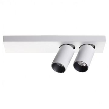 Потолочный светодиодный светильник с регулировкой направления света Novotech Bella 357935, LED 22W 3000K 1382lm, белый, черно-белый, металл