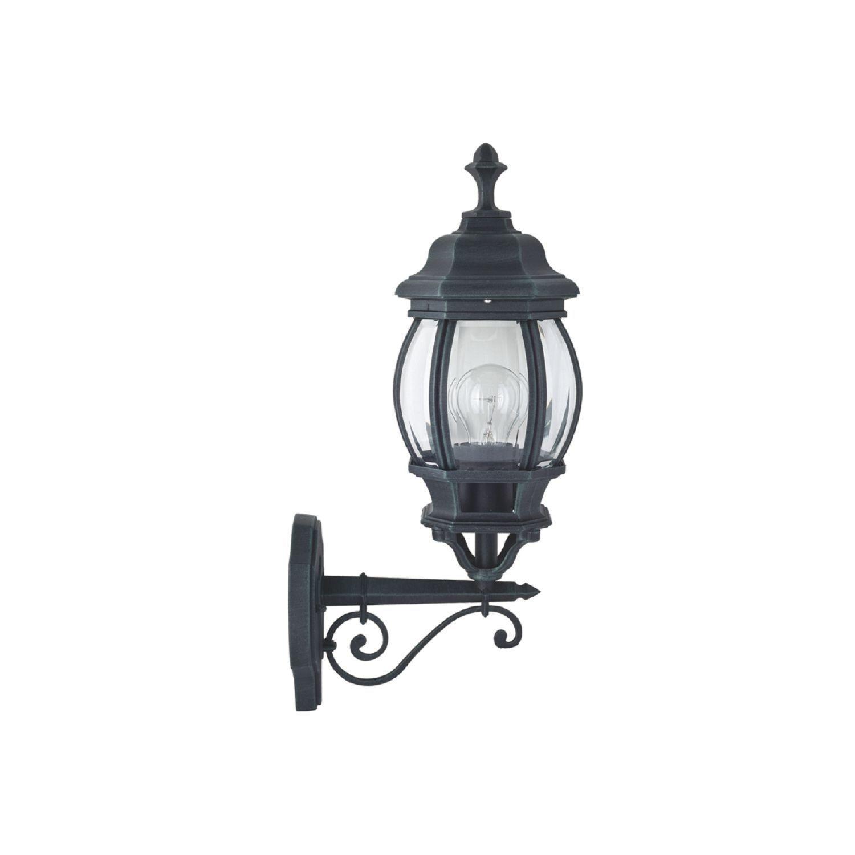 Настенный фонарь Favourite Paris 1806-1W, IP44, 1xE27x100W, бирюзовый, прозрачный, металл, ковка, металл со стеклом - фото 1