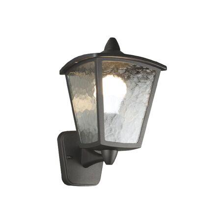 Настенный фонарь Favourite Colosso 1817-1W, IP44, 1xE27x60W, черный, прозрачный, металл, металл со стеклом - миниатюра 1