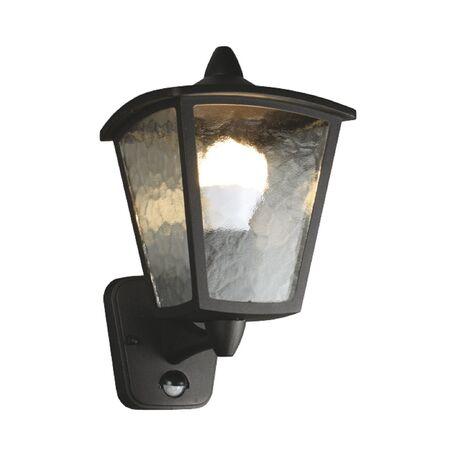 Настенный фонарь Favourite Colosso 1818-1W, IP44, 1xE27x60W, черный, прозрачный, металл, металл со стеклом