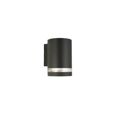 Настенный светильник Favourite Flicker 1830-1W, IP44, 1xGU10x6W, черный, металл, пластик