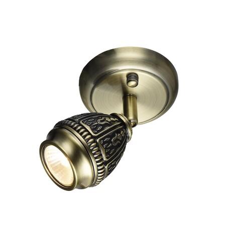 Настенный светильник с регулировкой направления света Favourite Sorento 1584-1W, 1xGU10x35W, бронза, металл