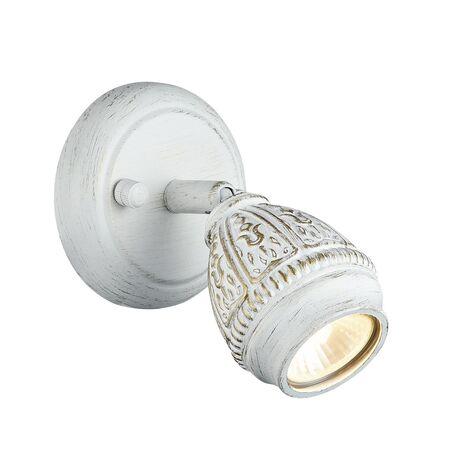 Настенный светильник с регулировкой направления света Favourite Sorento 1585-1W, 1xGU10x35W, белый с золотой патиной, металл - миниатюра 1