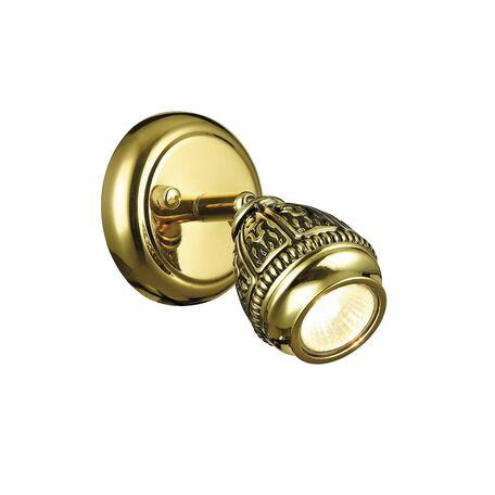 Настенный светильник с регулировкой направления света Favourite Sorento 1586-1W, 1xGU10x35W, золото, черненое золото, металл