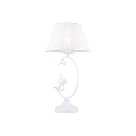 Настольная лампа Favourite Cardellino 1836-1T, 1xE14x40W, белый, металл, гипс, текстиль