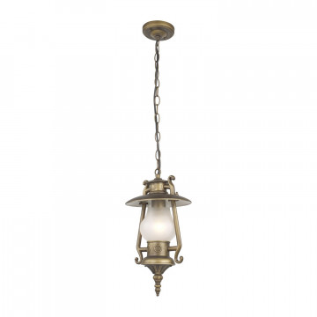 Подвесной светильник Favourite Leyro 1496-1P, IP44, 1xE27x60W, коричневый, белый, металл, стекло
