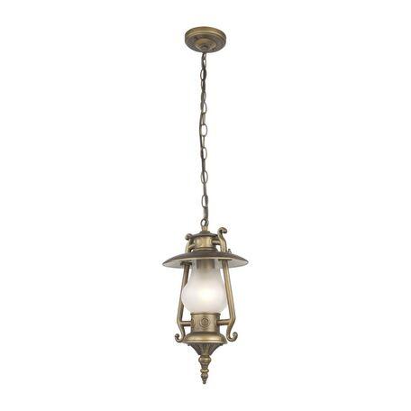 Подвесной светильник Favourite Leyro 1496-1P, IP44, 1xE27x60W, коричневый, металл, металл со стеклом, ковка