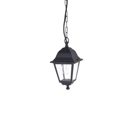 Подвесной светильник Favourite Leon 1812-1P, IP44, 1xE27x60W, черный, прозрачный, металл, металл со стеклом