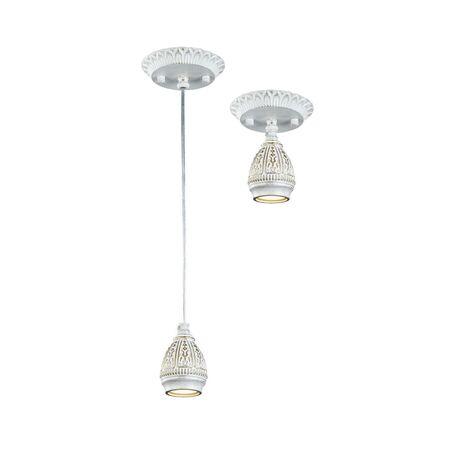 Потолочно-подвесной светильник Favourite Sorento 1585-1P, 1xGU10x35W, белый с золотой патиной, металл