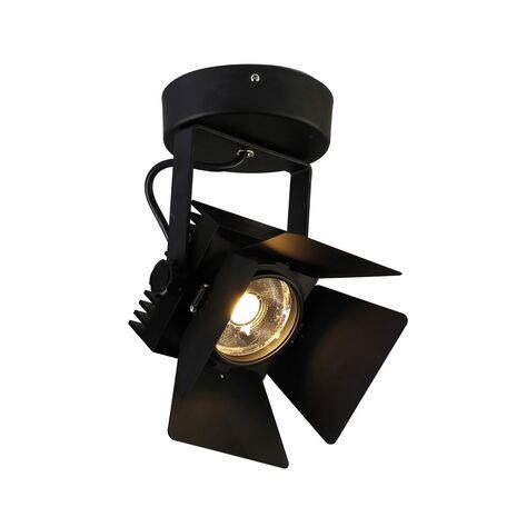 Потолочный светодиодный светильник Favourite Projector 1770-1U, IP21, LED 20W 1600lm CRI>80, черный, металл