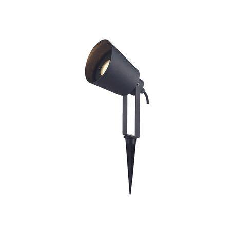 Прожектор с колышком Favourite Relief 1816-1T, IP65, 1xGU10x50W, черный, металл, стекло