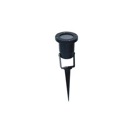 Прожектор с колышком Favourite Relief 1834-1T, IP65, 1xGU10x50W, черный, металл, стекло