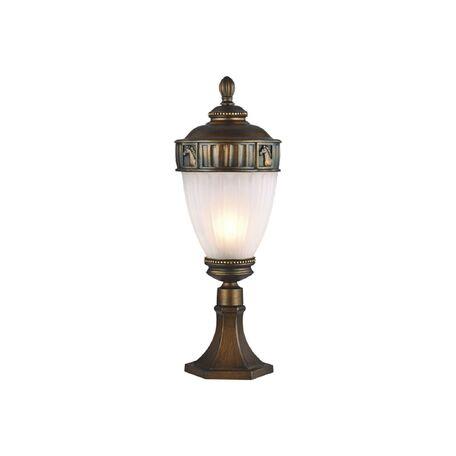 Садово-парковый светильник Favourite Misslamp 1335-1T, IP44, 1xE27x60W, коричневый, металл, гипс, металл со стеклом