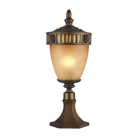 Садово-парковый светильник Favourite Guards 1336-1T, IP44, 1xE27x60W, коричневый, янтарь, металл, ковка, металл со стеклом