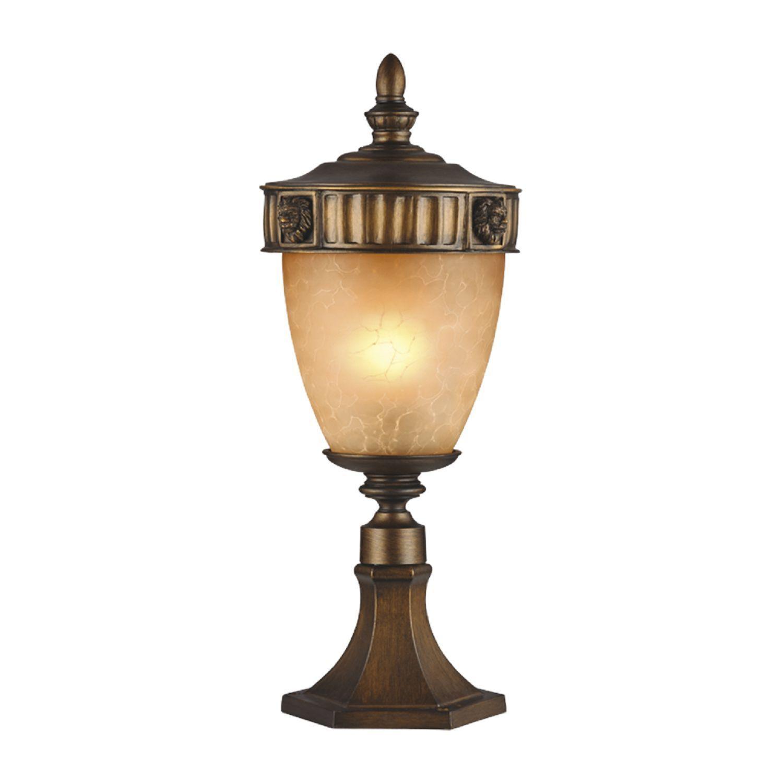 Садово-парковый светильник Favourite Guards 1336-1T, IP44, 1xE27x60W, коричневый, янтарь, металл, ковка, металл со стеклом - фото 1