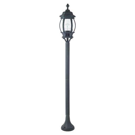 Уличный фонарь Favourite Paris 1806-1F, IP44, 1xE27x100W, бирюзовый, прозрачный, металл, металл со стеклом