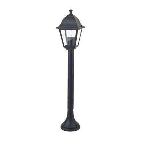 Уличный фонарь Favourite Leon 1812-1F, IP44, 1xE27x60W, черный, прозрачный, металл, металл со стеклом