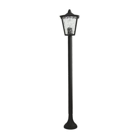 Уличный фонарь Favourite Colosso 1817-1F, IP44, 1xE27x60W, черный, прозрачный, металл, металл со стеклом