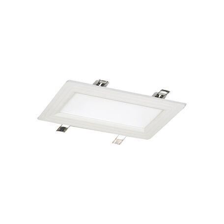 Встраиваемая светодиодная панель Favourite FlashLED 1 1343-12C, IP21, LED 12W, белый, металл с пластиком, пластик