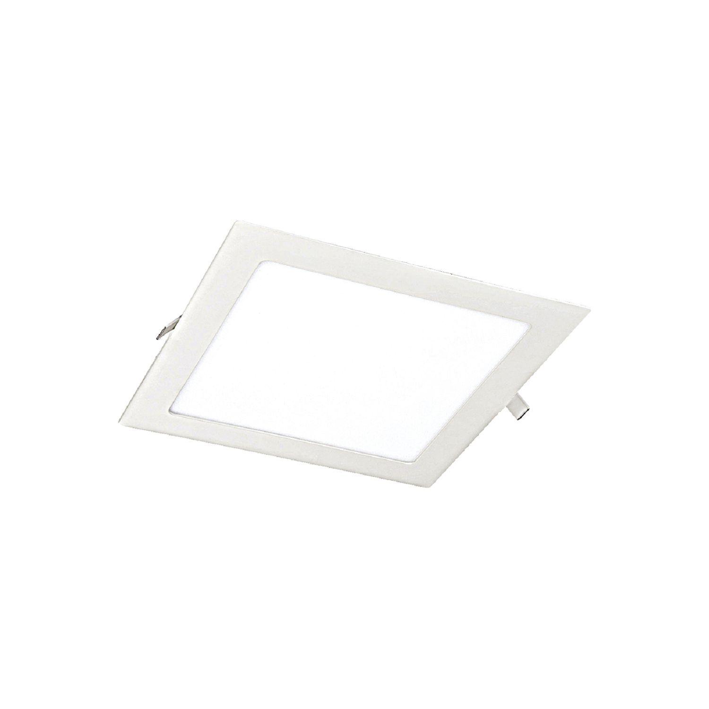 Встраиваемая светодиодная панель Favourite FlashLED 1 1345-18C, IP21, LED 18W, белый, металл с пластиком, пластик - фото 1