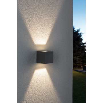 Настенный светодиодный светильник Paulmann Cybo 18000, IP65, LED 6W, серый, металл