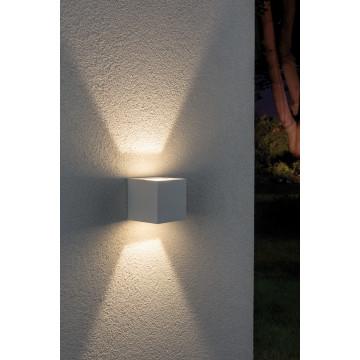 Настенный светодиодный светильник Paulmann Cybo 18001, IP65, LED 6W, белый, металл