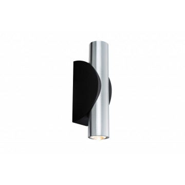 Настенный светодиодный светильник Paulmann Flame 18004, IP44, LED 6,4W, черный, алюминий, металл