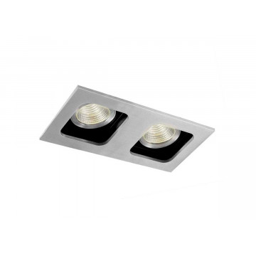 Встраиваемый светильник Donolux DL18614/02WW-SQ Alu/Black, 2xGU10x50W