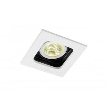 Встраиваемый светильник Donolux Holly DL18614/01WW-SQ White/Black, 1xGU10x50W