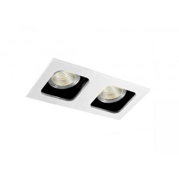 Встраиваемый светильник Donolux Holly DL18614/02WW-SQ White/Black, 2xGU10x50W