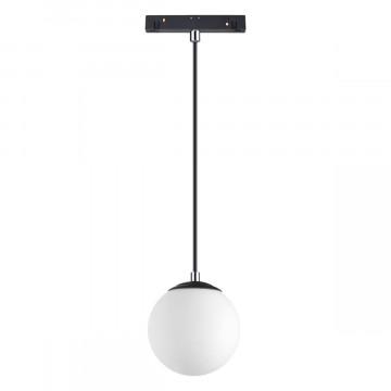 Подвесной светодиодный светильник для шинной системы Novotech Shino Flum 358472, LED 10W 4000K 800lm, черный, белый, металл, стекло