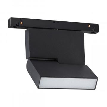 Светодиодный светильник с регулировкой направления света для шинной системы Novotech Shino Flum 358465, LED 10W 4000K 800lm, черный, металл