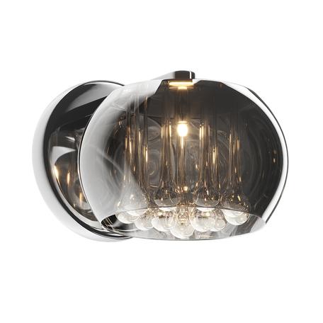 Бра Zumaline Crystal W0076-01D-F4FZ, 1xG9x42W, хром, дымчатый, прозрачный, металл, стекло, хрусталь