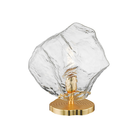 Настольная лампа Zumaline Rock T0488-01A-U8AC, 1xE27x40W, золото, прозрачный, металл, стекло