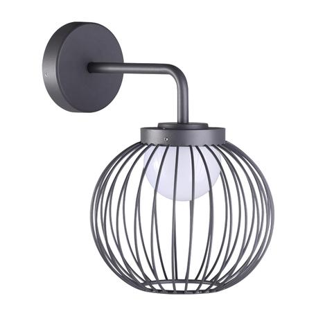 Настенный светодиодный светильник Novotech Street Carrello 358286, IP65, LED 7W 4000K 420lm, темно-серый, металл