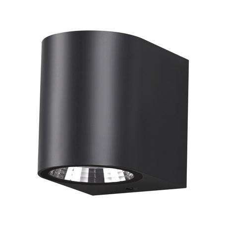 Настенный светодиодный светильник Novotech Street Opal 358294, IP65, LED 8W 4000K 320lm, черный, пластик