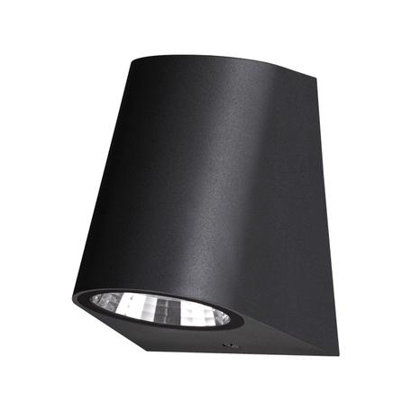 Настенный светодиодный светильник Novotech Street Opal 358295, IP65, LED 4W 4000K 160lm, черный, пластик