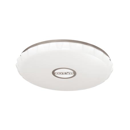 Потолочный светодиодный светильник с пультом ДУ Sonex Covera 3000/EL, IP43, LED 72W 520056005800lm, белый, хром, металл, пластик