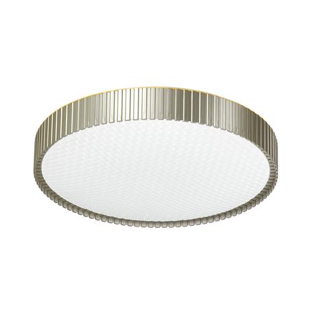 Потолочный светодиодный светильник с пультом ДУ Sonex Mostli 3004/DL, IP43, LED 48W 340036503800lm, белый, матовое золото, металл, пластик