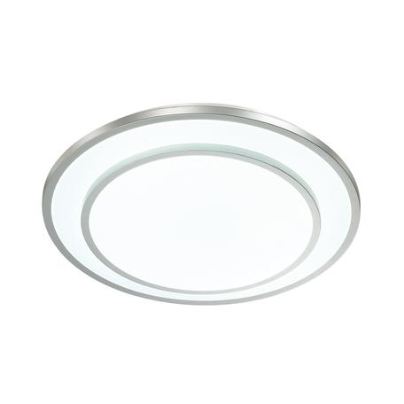 Потолочный светодиодный светильник с пультом ДУ Sonex Besta 3007/DL, IP43, LED 48W 340036503800lm, белый, никель, металл, пластик