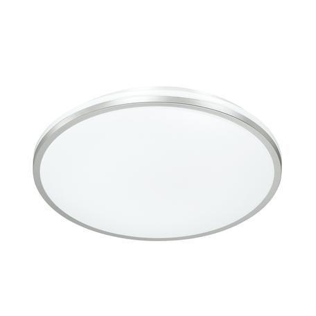 Потолочный светодиодный светильник с пультом ДУ Sonex Partial 3008/DL, IP43, LED 48W 340036503800lm, белый, никель, металл, пластик