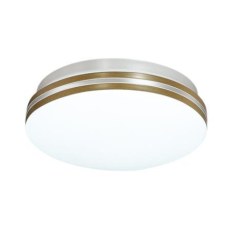 Потолочный светодиодный светильник Sonex Smalli 3015/AL, IP43, LED 12W 4000K 1100lm, белый, коричневый, металл, пластик